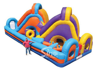 Giant Double Lane Slide Kids Inflatable Obstacle Course For Outdoor