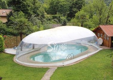 Outdoor custom size transparent inflatable pool dome with covered ceiling
