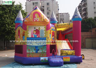 La glissière de princesse Inflatable Bounce House With faite de bâche sans plomb de PVC